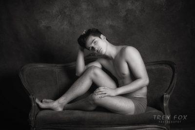 Male underwear model by Trey Fox Photography | Texas