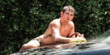 Male model photo shoot - car wash - Houston, Tx