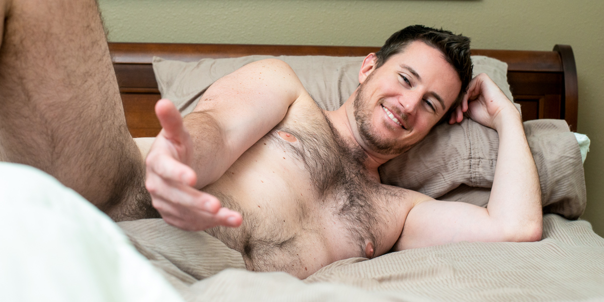 Naked guy in bed: nude male photography in Houston by Trey Fox Photography